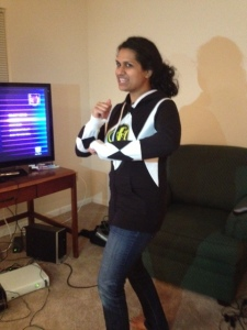Nisha is pretending to be Walter Emanuel Jones. Best Power Ranger Ever!