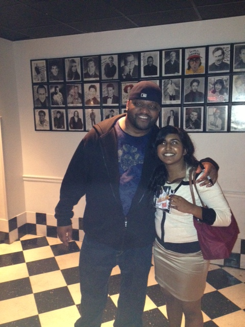 I'm with Aries Spears at the DC Improv