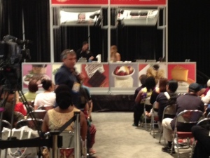 The Food channel sponsored cooking demos..