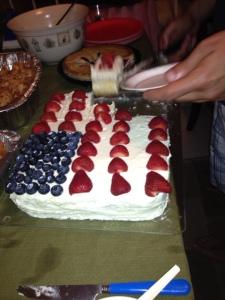 Patriotic n'tasty cake made by Kamila
