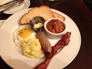 Traditional English Breakfast at Victoria Gastro Pub!