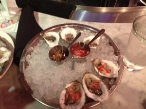 Legal Seafood had a gimmicky deal for cheap oysters!
