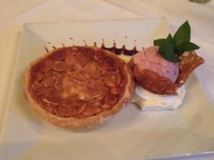 An almond tort from Furnace Inn (Elkridge, MD)