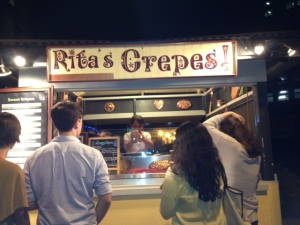 Delicious crepes found in Bethesda! Visit her!