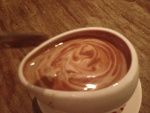 Max Brenner's has spicy hot chocolate
