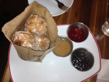 Delicious beignets from Founding Farmers