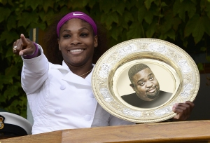 Serena Williams wins Wimbeldon--with the spirit of Robert L. Hines? Courtesy of Jack Gorton