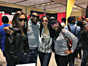 Chardae, Kel Mitchell, Sion, and I modeling Asia Lee's hot celebrity shades!