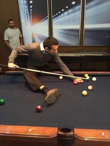 hira playing pool