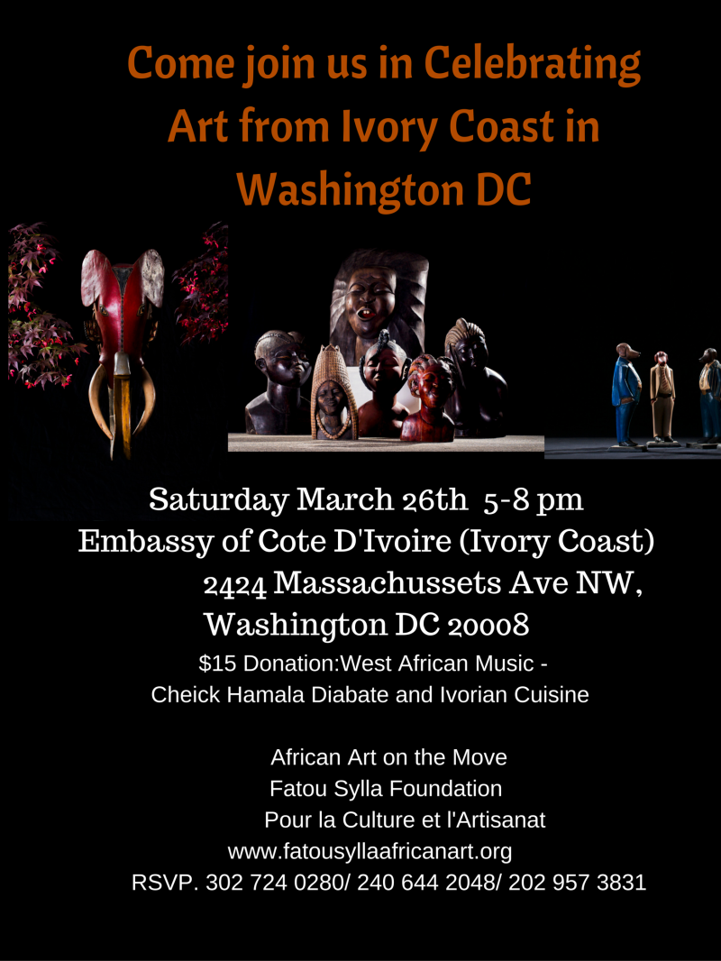 Come join us in Celebrating Art from Ivory Coast in Washington DC (1)