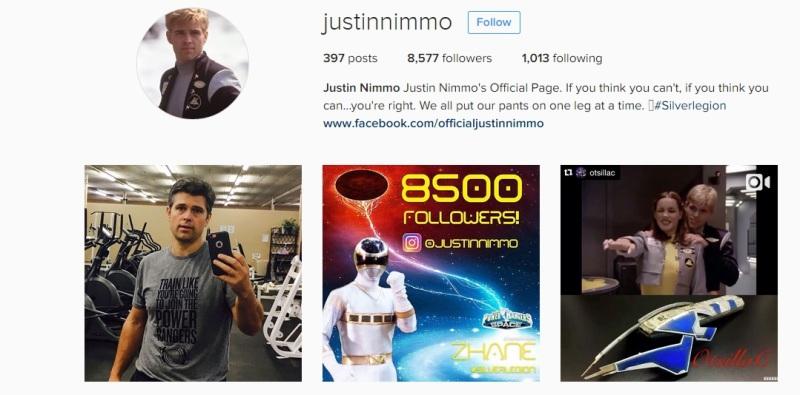 Justin Nimmo Silver Power Ranger